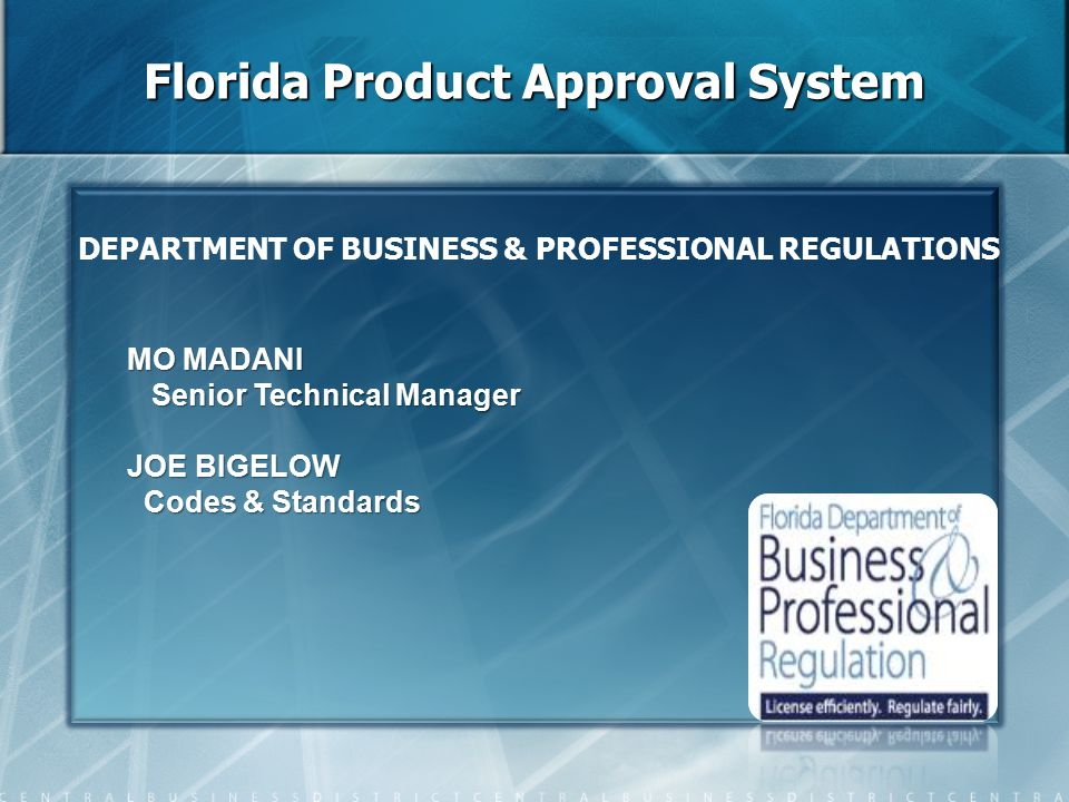 Evaluation Report by Florida PE/RA Validation Common Errors (1) Evaluation Report by Florida PE/RA Validation Common Errors (1) Testing Standards on Evaluation Report (ER) are not the same as on face of application.