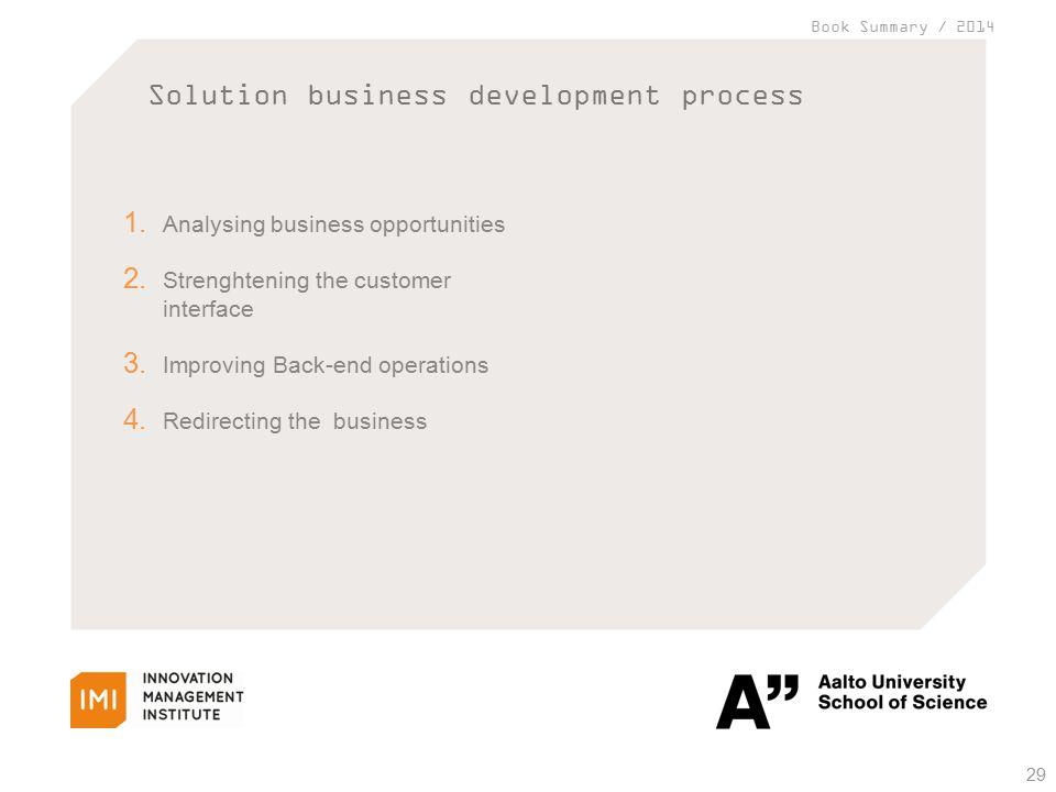 Book Summary / 2014 Solution business development process 29 1.