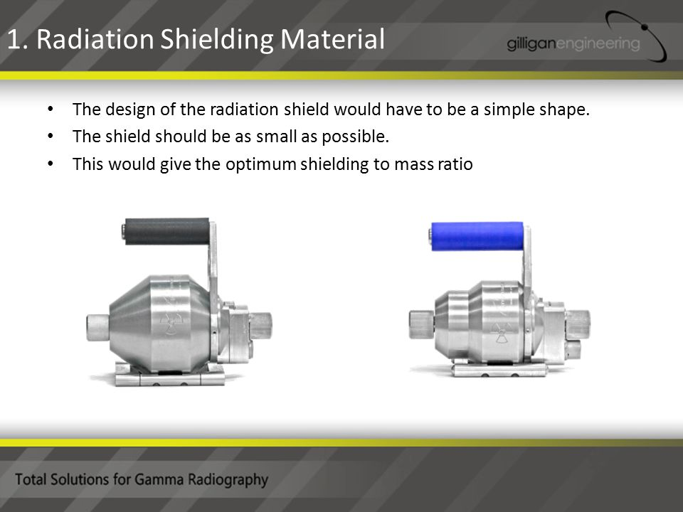The design of the radiation shield would have to be a simple shape.