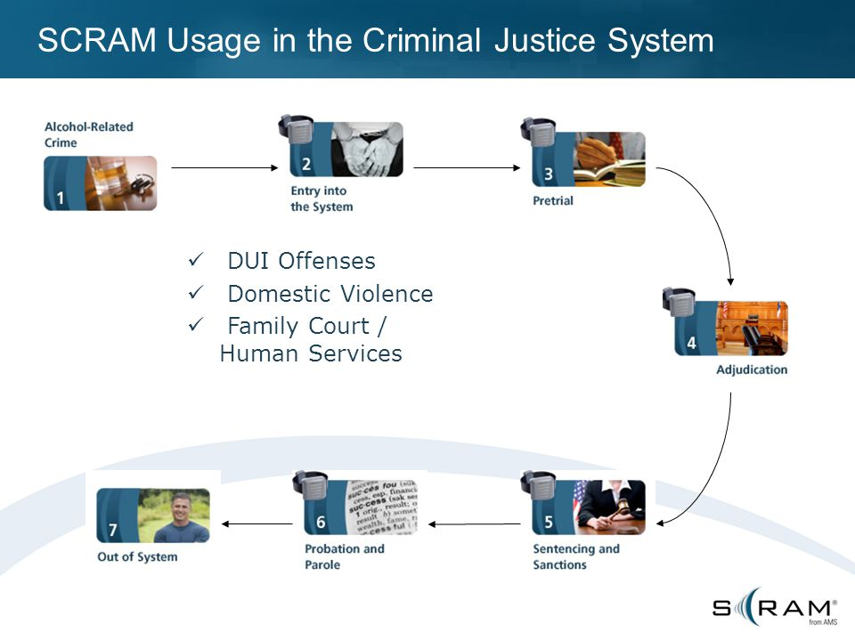 SCRAM Usage in the Criminal Justice System DUI Offenses Domestic Violence Family Court / Human Services