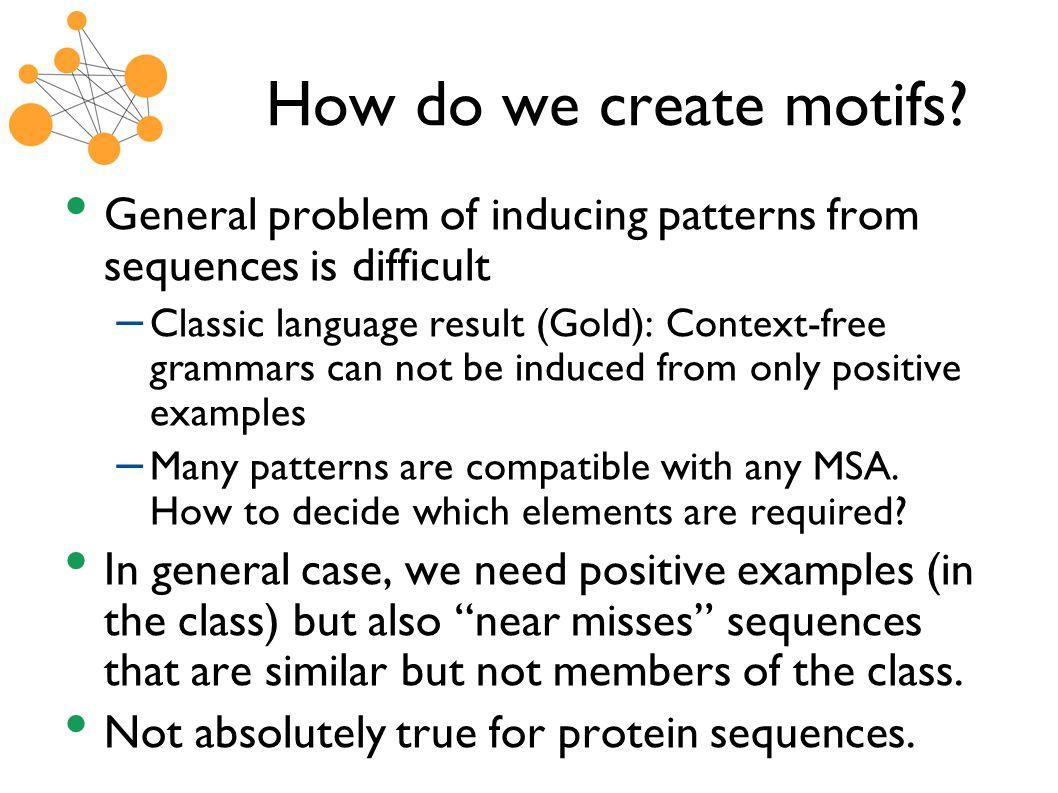 How do we create motifs.
