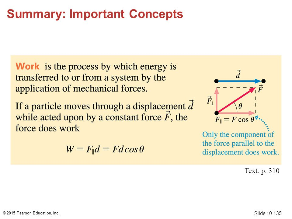 Slide 10-135 Summary: Important Concepts © 2015 Pearson Education, Inc. Text: p. 310
