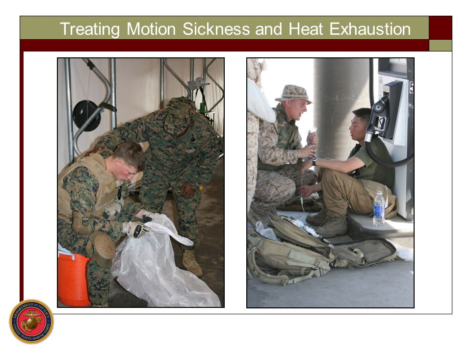Treating Motion Sickness and Heat Exhaustion