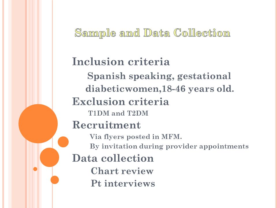 Inclusion criteria Spanish speaking, gestational diabeticwomen,18-46 years old.