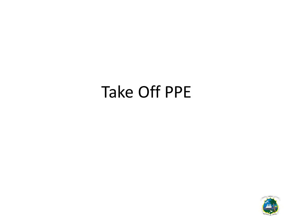 Take Off PPE