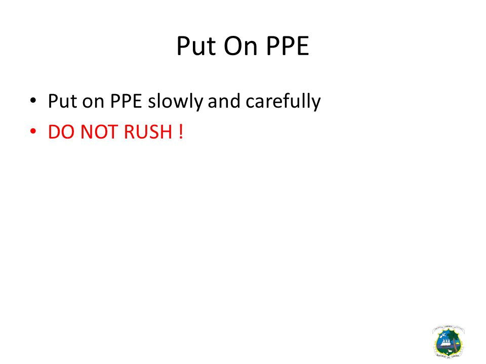 Find the PPE Mistake PROBLEM CORRECT ACTION