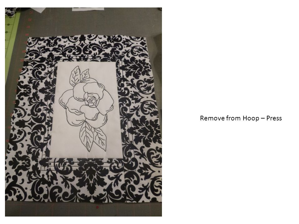 Remove from Hoop – Press