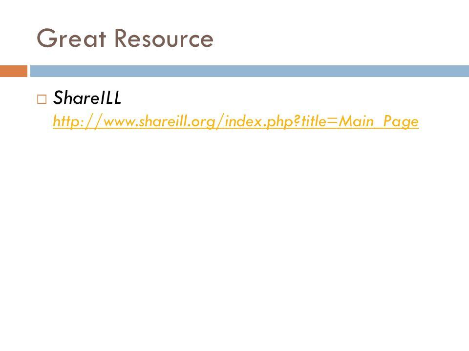Great Resource  ShareILL http://www.shareill.org/index.php title=Main_Page http://www.shareill.org/index.php title=Main_Page