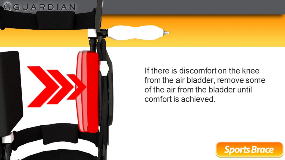 Bladders may also be adjusted on sidebar to achieve optimal comfort.