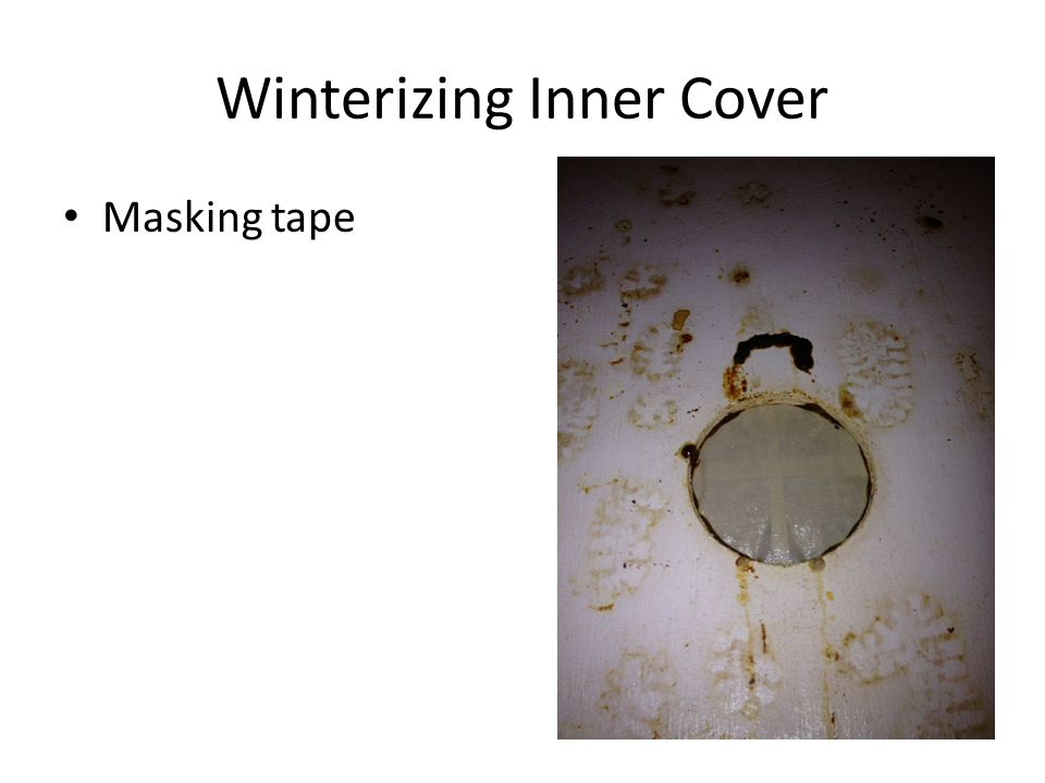Winterizing Inner Cover Masking tape