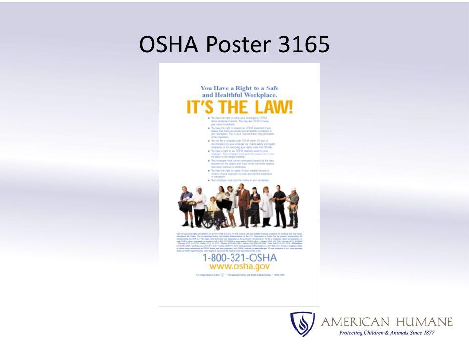 OSHA Poster 3165