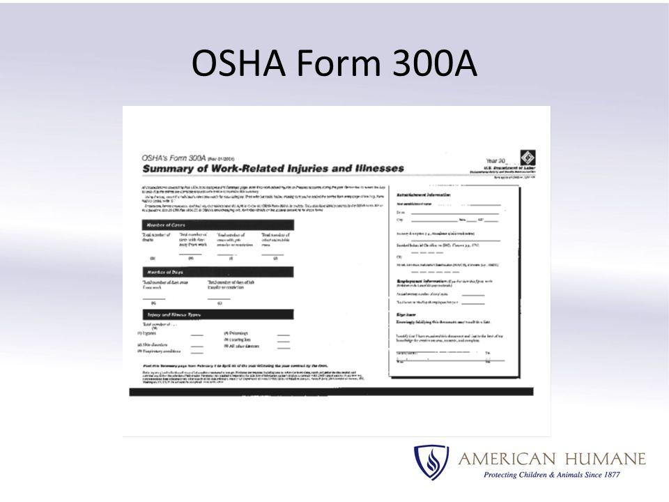 OSHA Form 300A