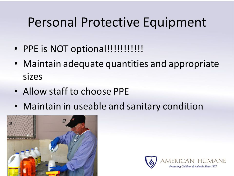 PPE is NOT optional!!!!!!!!!!.