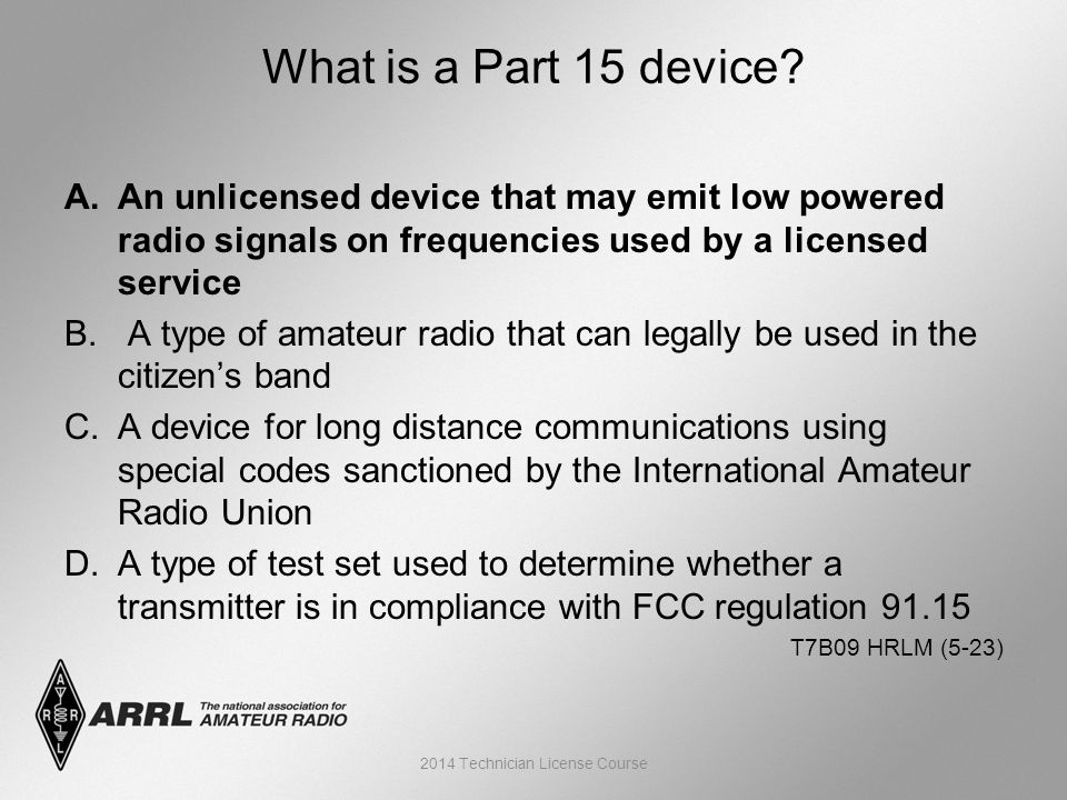 A.An unlicensed device that may emit low powered radio signals on frequencies used by a licensed service B.