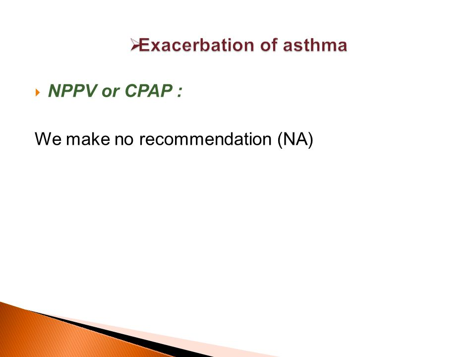In contrast to AECOPD, the use of NPPV in severe exacerbations of asthma leading to ARF is supported by less evidenc.