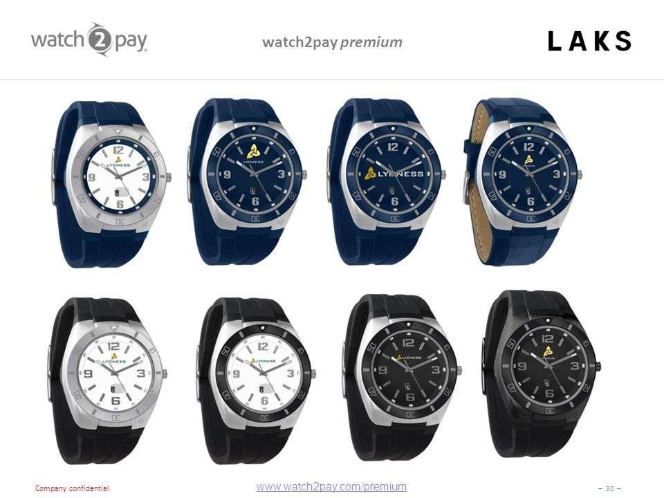 – 30 – Company confidential watch2pay premium www.watch2pay.com/premium