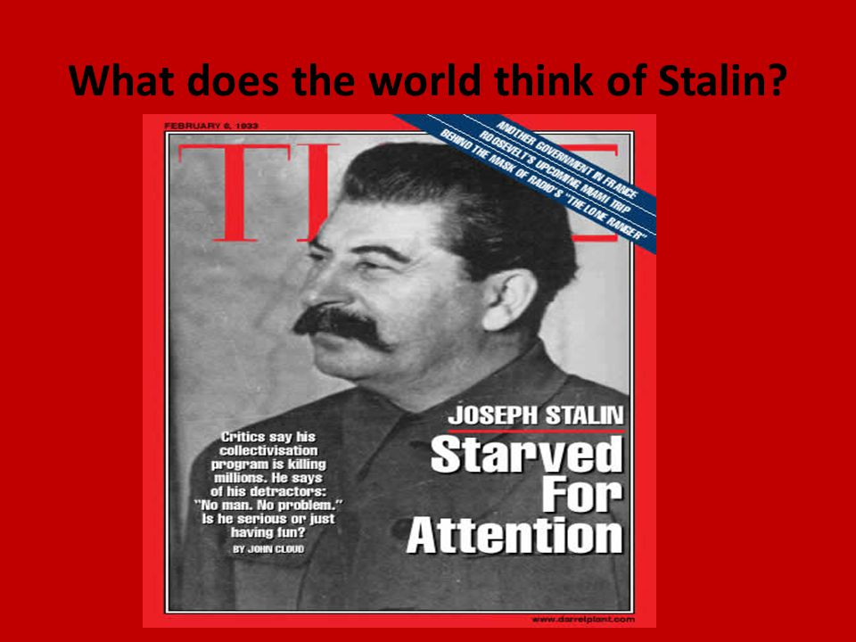 What does the world think of Stalin