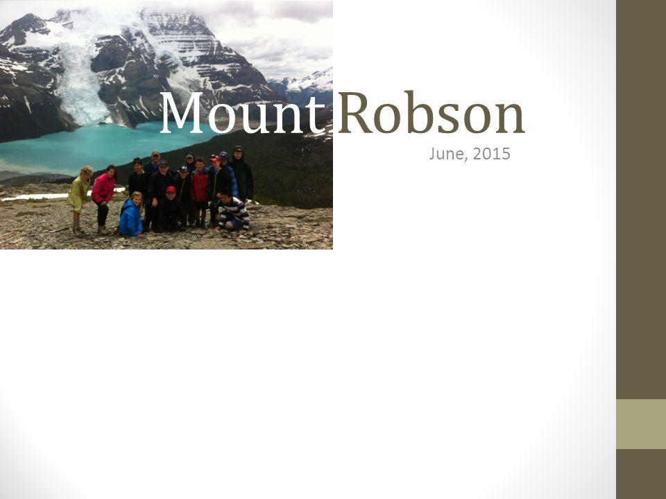 Mount Robson June, 2015