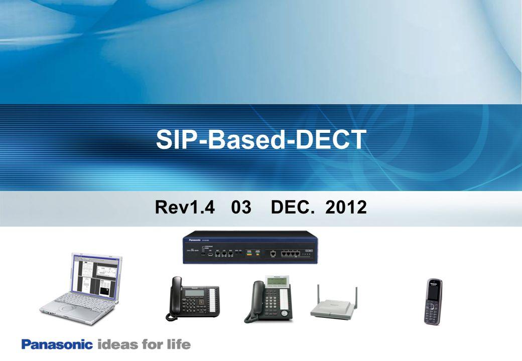 SIP-Based-DECT Rev1.4 03 DEC. 2012