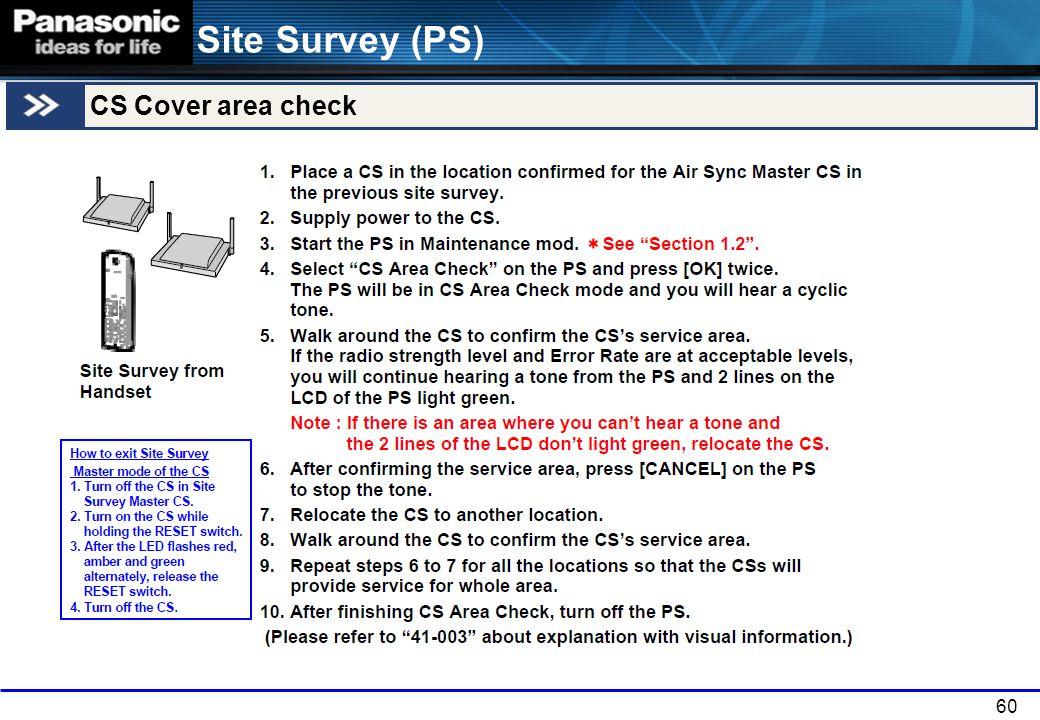 60 Site Survey (PS) CS Cover area check