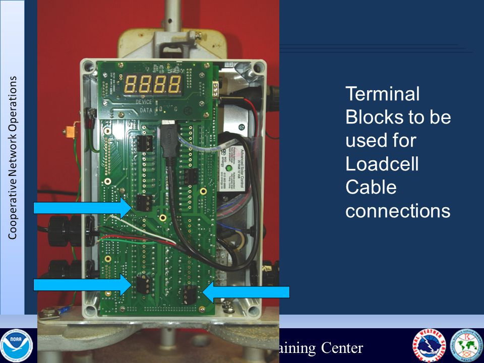 National Weather Service Training Center Terminal Blocks to be used for Loadcell Cable connections
