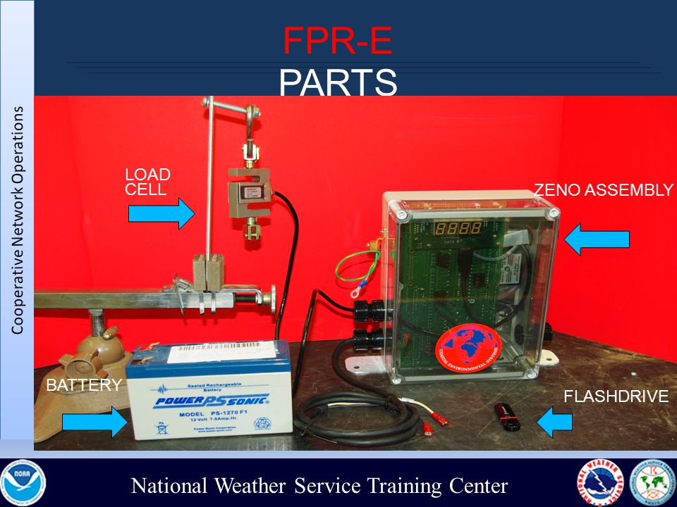 National Weather Service Training Center FPR-E PARTS ZENO ASSEMBLY LOAD CELL BATTERY FLASHDRIVE