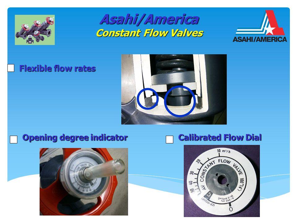 Rangeability Asahi/America Constant Flow Valves