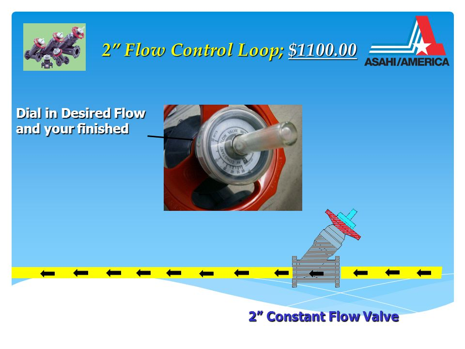 2 Flow Control Loop; $1100.00 2 Flow Control Loop; $1100.00 2 Constant Flow Valve Dial in Desired Flow and your finished