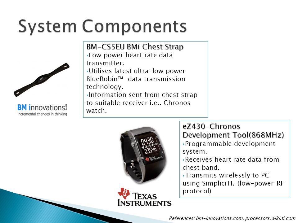 BM-CS5EU BMi Chest Strap ‣Low power heart rate data transmitter. ‣Utilises latest ultra-low power BlueRobin™ data transmission technology. ‣Informatio