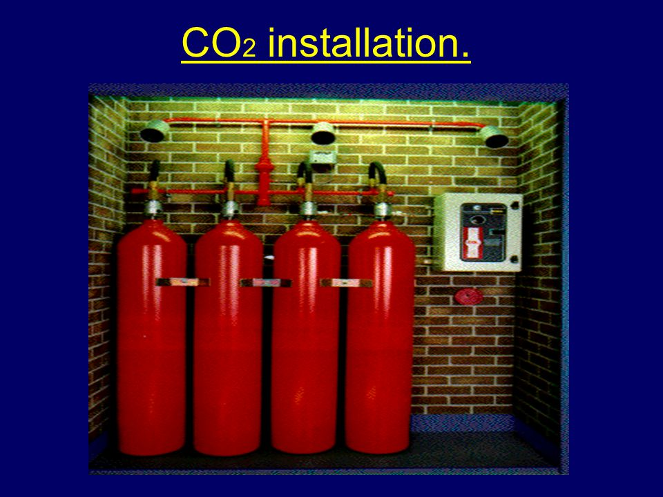 Carbon dioxide (CO 2 ) installations Confined to the protection of hazards located in buildings or those around which a protective screen can be erect