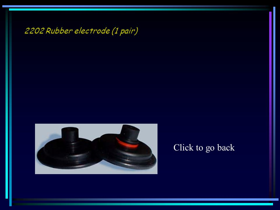 2202 Rubber electrode (1 pair) Click to go back