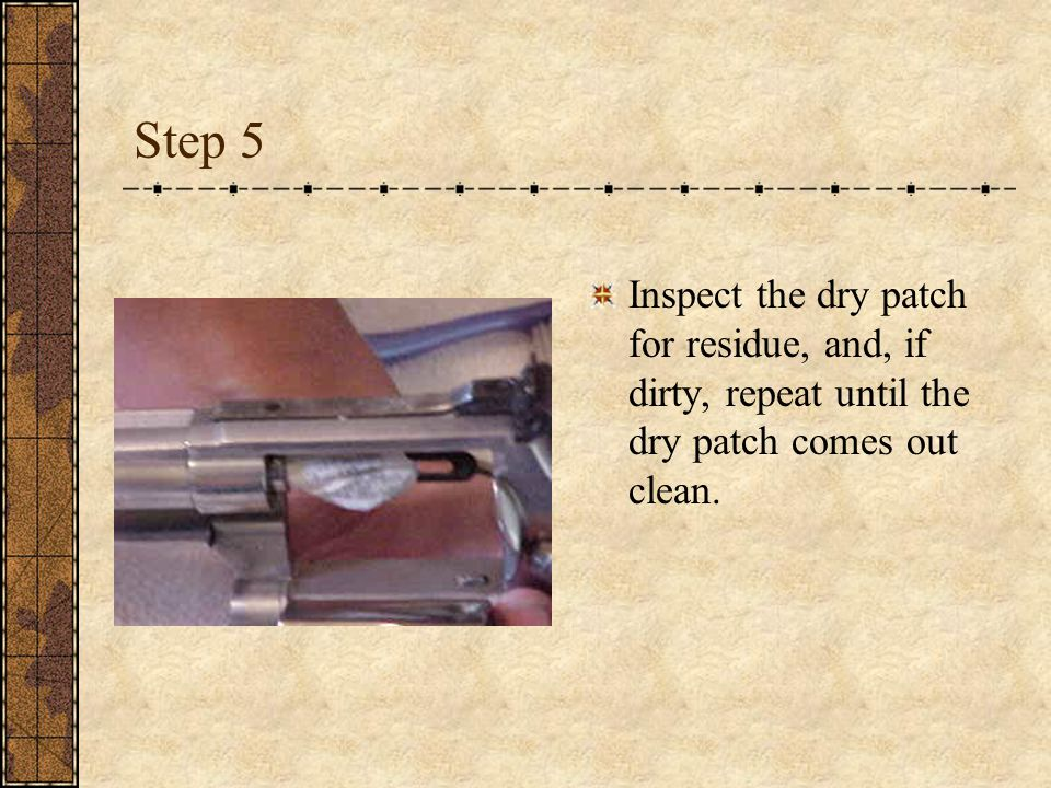 Step 5 Inspect the dry patch for residue, and, if dirty, repeat until the dry patch comes out clean.