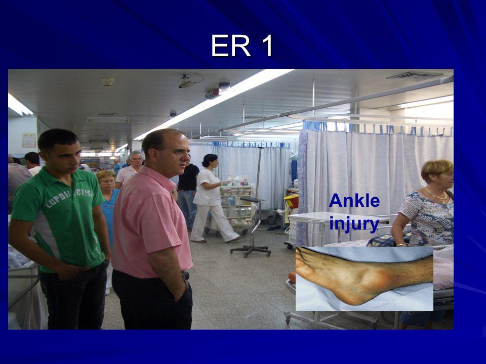 ER 1 Ankle injury
