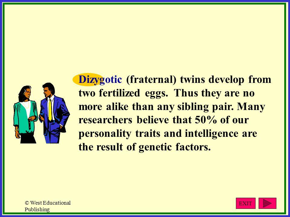 © West Educational Publishing Developmental Patterns Development is not a random process.