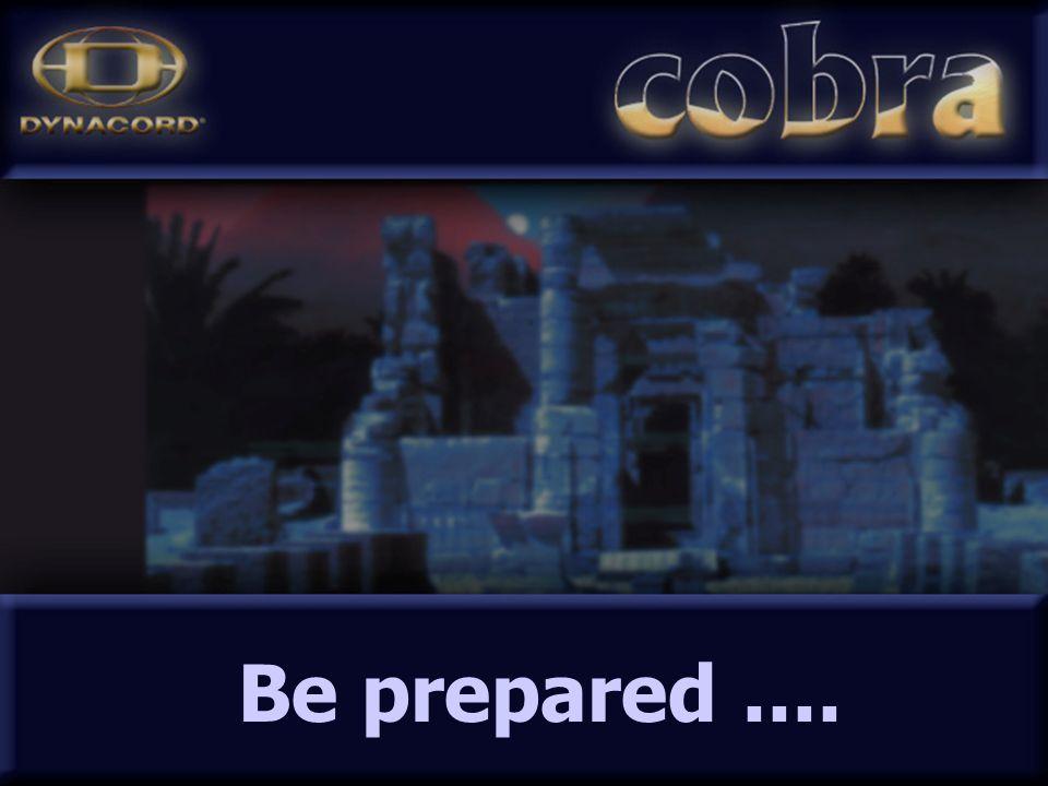 Be prepared....