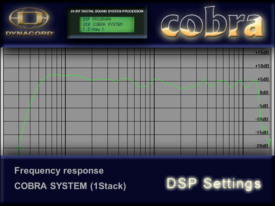 Frequency response COBRA SYSTEM (1Stack)