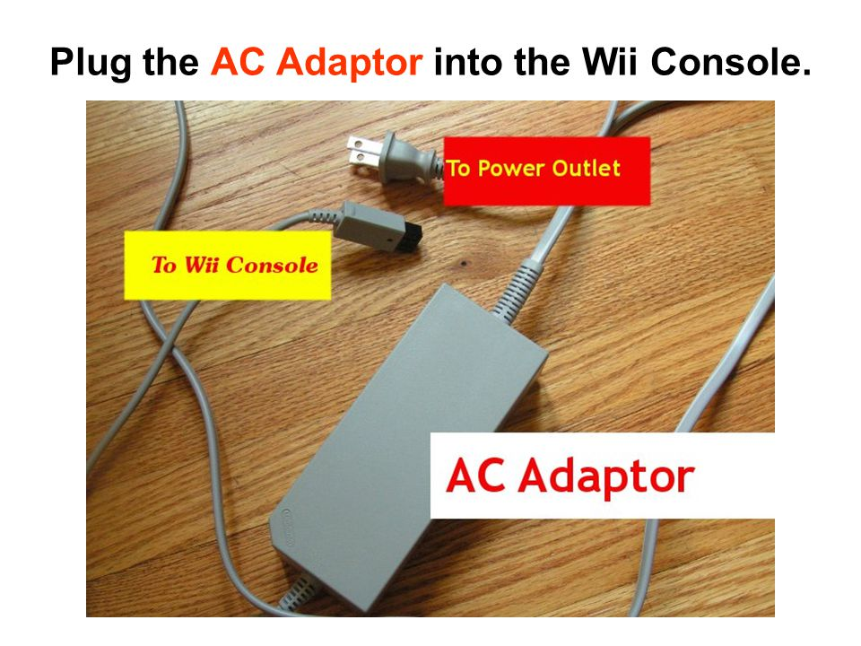 Plug the AV Cable into the Wii Console.