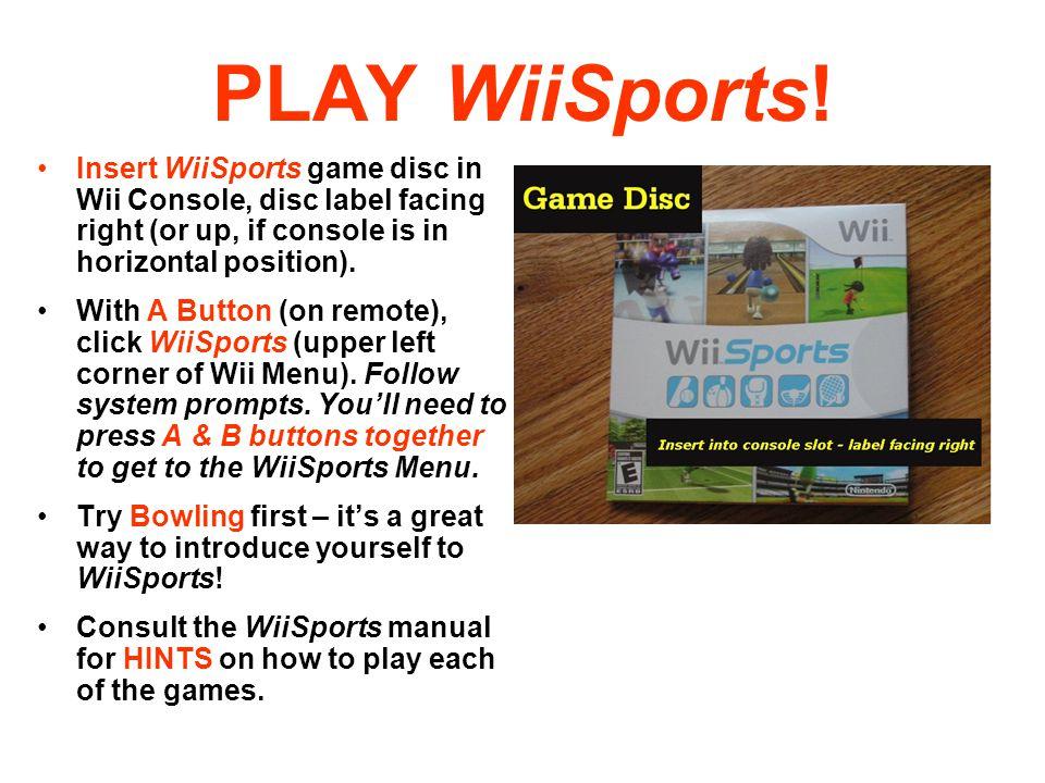 PLAY WiiSports.