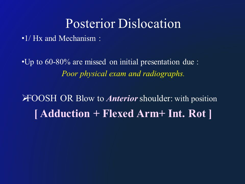 1/ Hx and Mechanism : Up to 60-80% are missed on initial presentation due : Poor physical exam and radiographs.