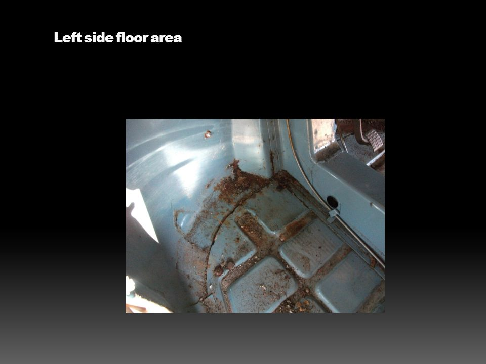 Left side floor area