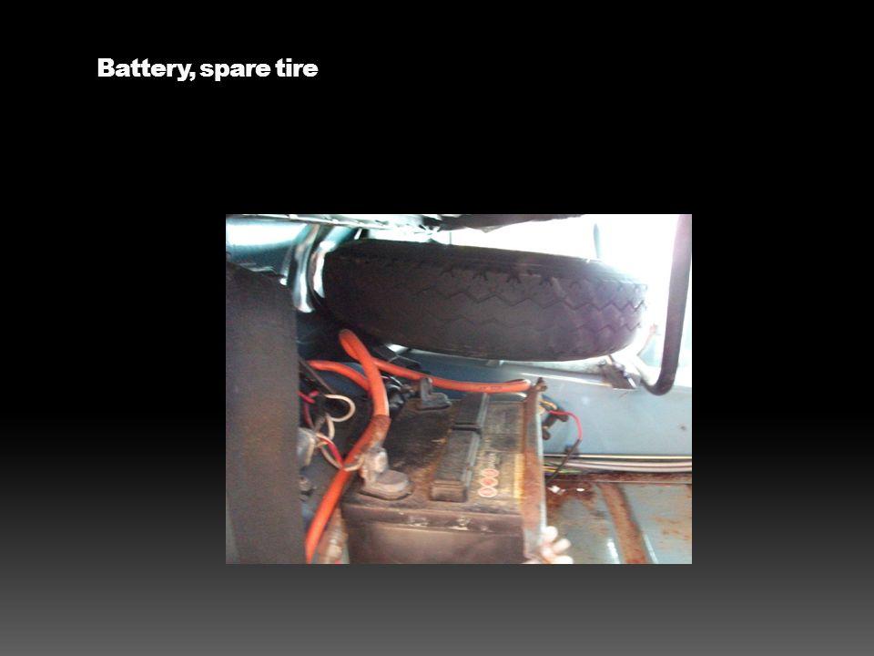 Battery, spare tire