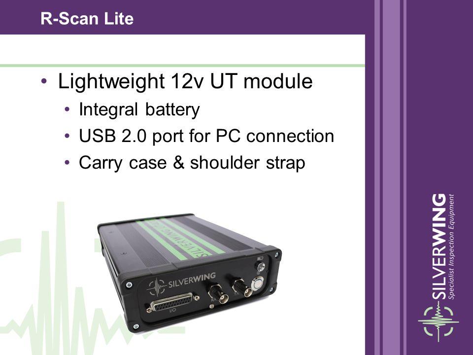 R-Scan Lite Lightweight 12v UT module Integral battery USB 2.0 port for PC connection Carry case & shoulder strap
