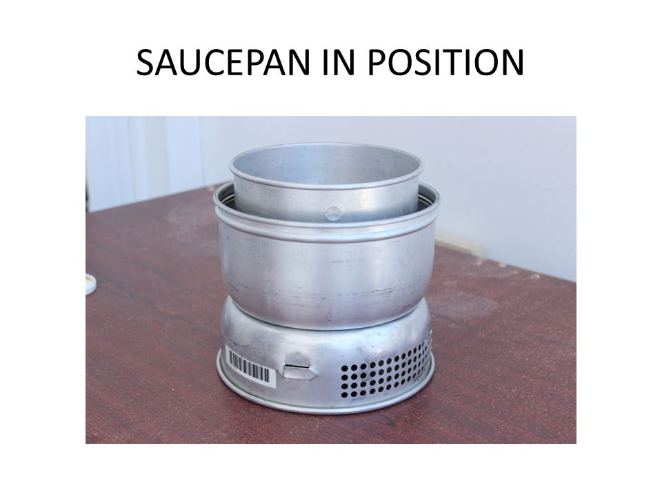 SAUCEPAN IN POSITION