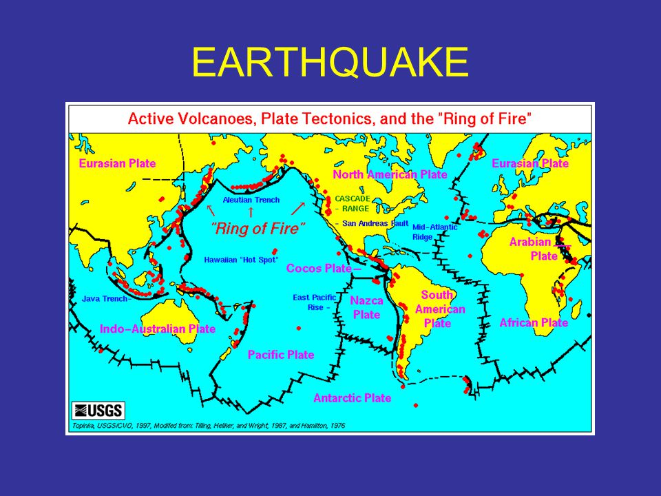 Earthquakes generally occur at or near plate margins.