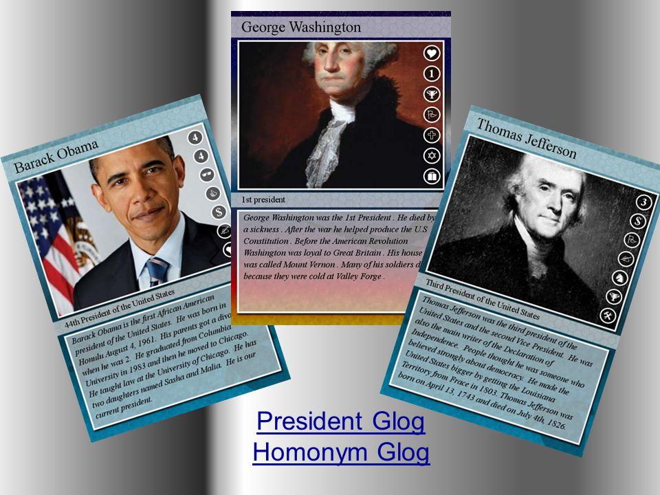 President Glog Homonym Glog