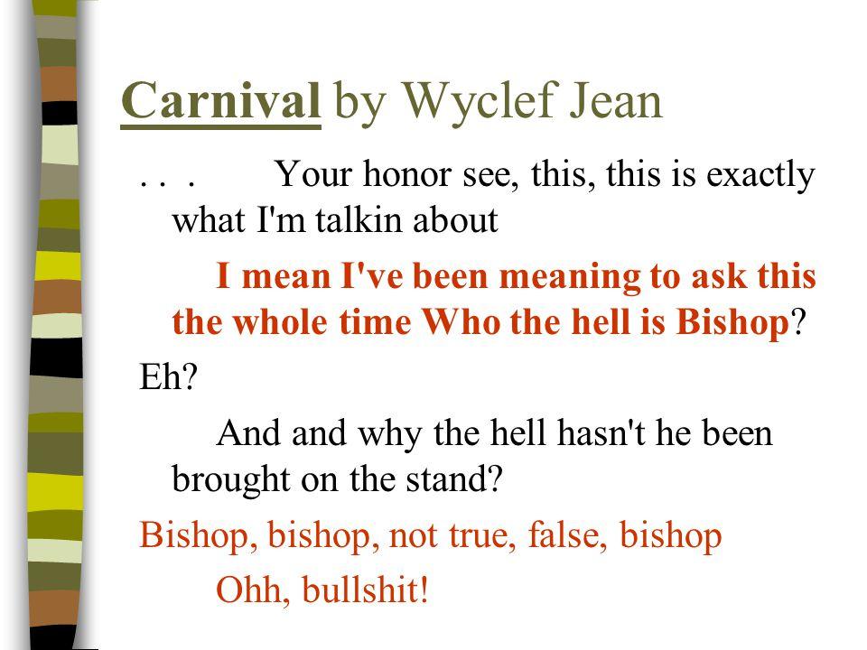 Carnival by Wyclef Jean...