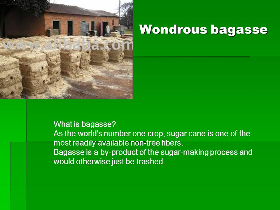 Wondrous bagasse What is bagasse.