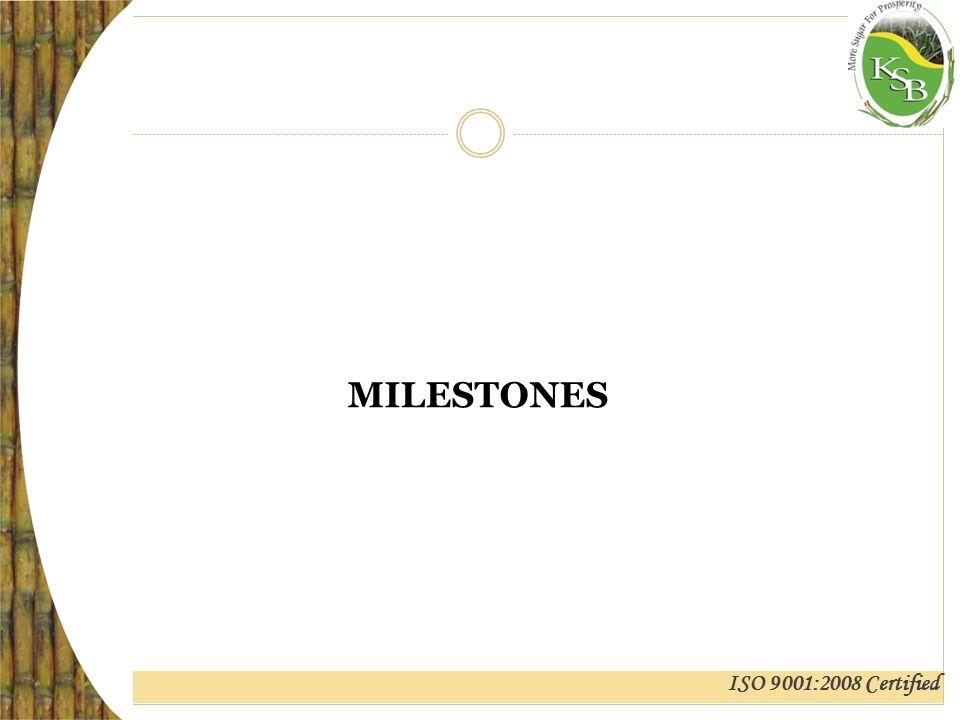 ISO 9001:2008 Certified MILESTONES