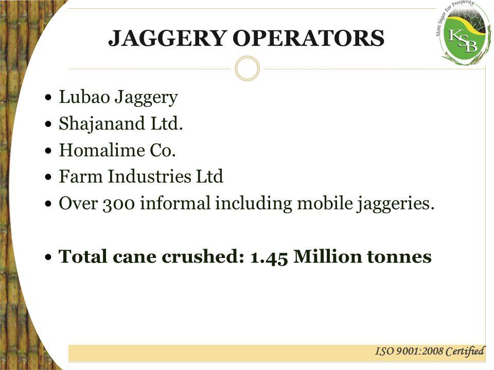 ISO 9001:2008 Certified JAGGERY OPERATORS Lubao Jaggery Shajanand Ltd.