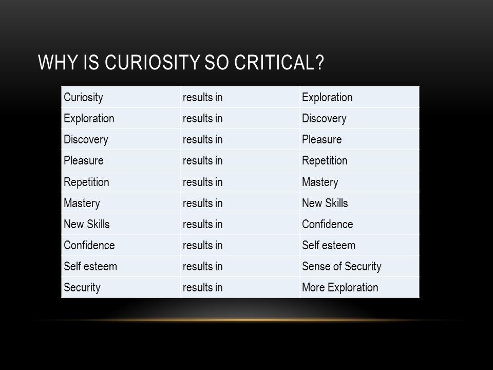 WHY IS CURIOSITY SO CRITICAL.